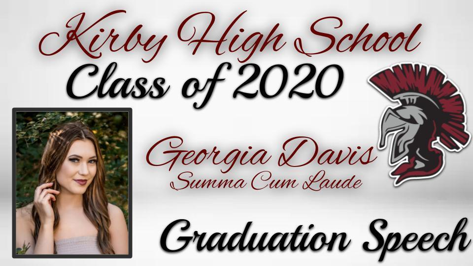 Class of 2020 Graduation Speech - Georgia Davis