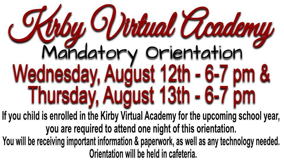 Kirby Virtual Academy Mandatory Orientation